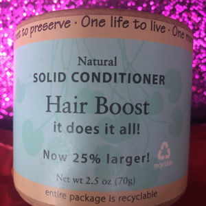 Natural SOLID HAIR BOOST Conditioner NEW sealed